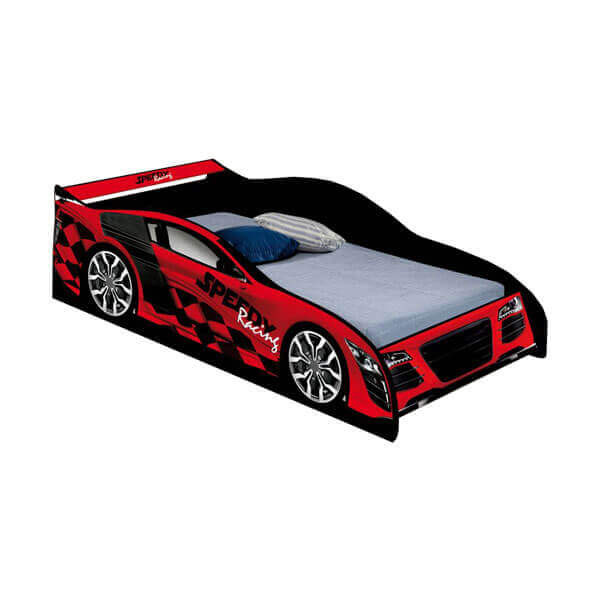 CAMA AUTO SPEED RACING J&A NEGRO|ROJO