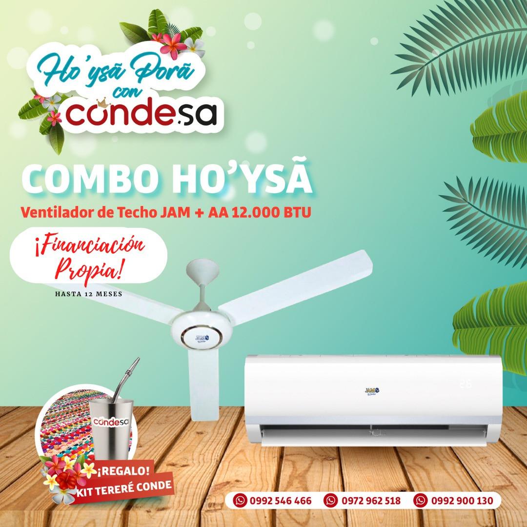 COMBO A. ACONDICIONADO + VENTILADOR DE TECHO