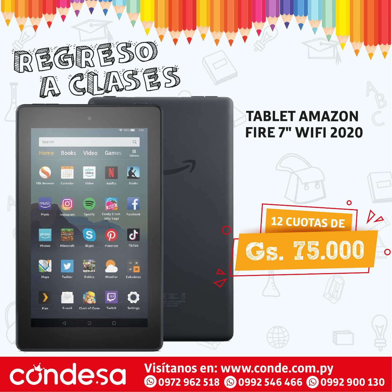 TABLET AMAZON FIRE 7 WIFI 2020