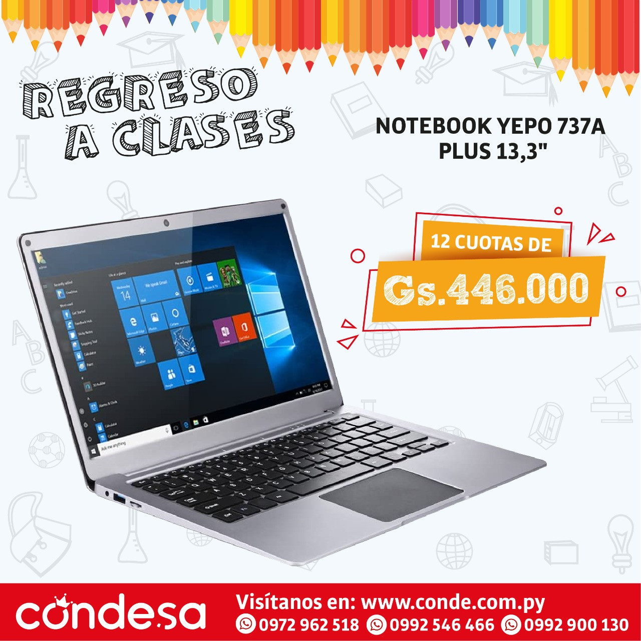 NOTEBOOK YEPO 737A PLUS 13,3""